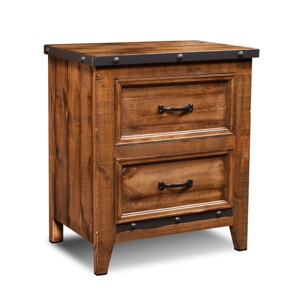 Sunset Trading Rustic City Natural Oak 2 Drawer Nightstand SST-HH-4365-350