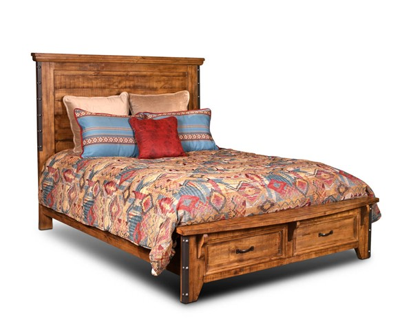 Sunset Trading Rustic City Natural Oak Storage Drawers Queen Beds SST-HH-4365-BED-VAR