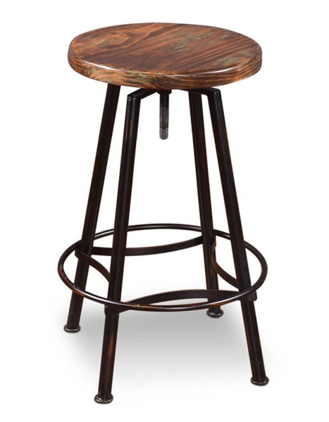 Sunset Trading Cabo Distressed Walnut Adjustable Counter Height Swivel Barstool SST-HH-8014-024