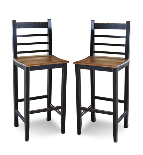 2 Sunset Trading Party Walnut Bar Stools SST-HH-8045-030-2