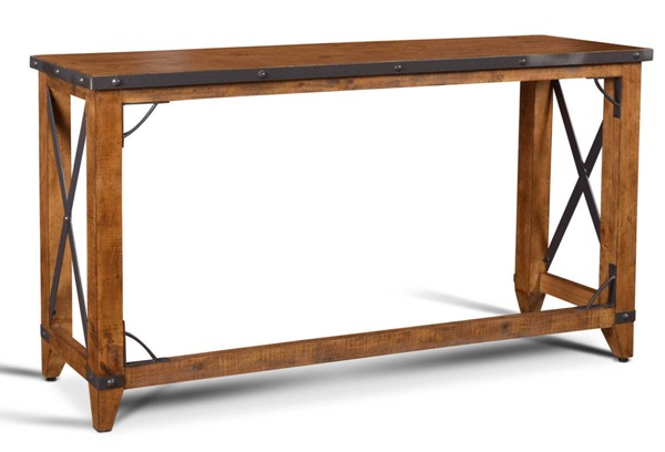 Sunset Trading Rustic City Natural Oak Counter Height Dining Table SST-HH-8365-175