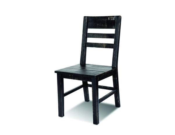 2 Sunset Trading Graphic Black Dining Chairs SST-HH-8725-018-2