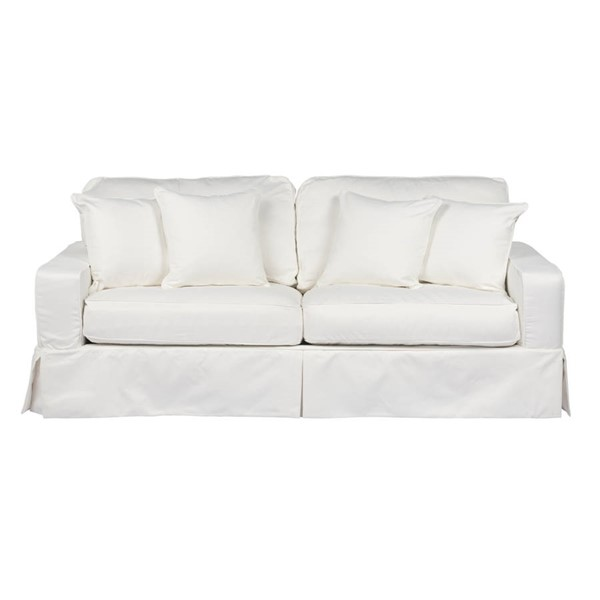 Sunset Trading Americana White Box Cushion Slipcovered Sofas SST-SU-108500-39108-SF-VAR