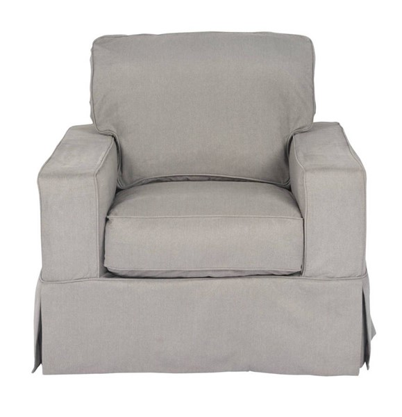 Sunset Trading Americana Grey Box Cushion Slipcovered Chair SST-SU-108520-391094