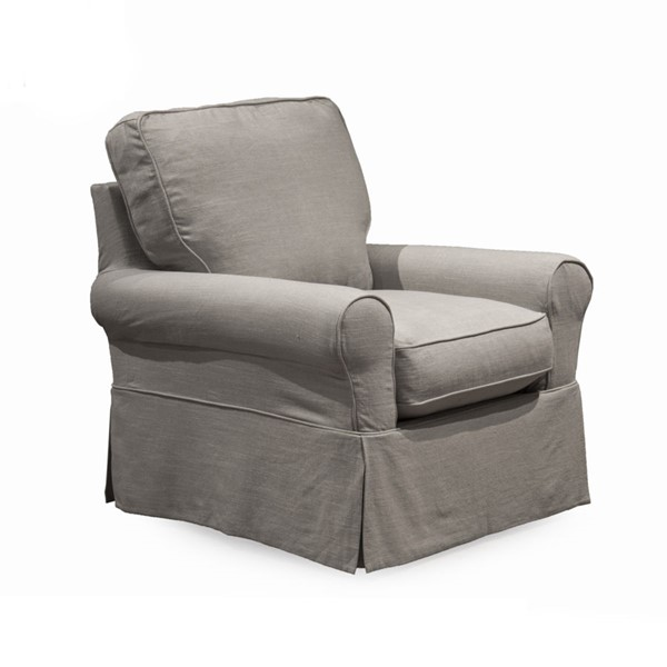 Sunset Trading Horizon Light Gray Box Cushion Chair Slipcover Only SST-SU-114993SC-220591