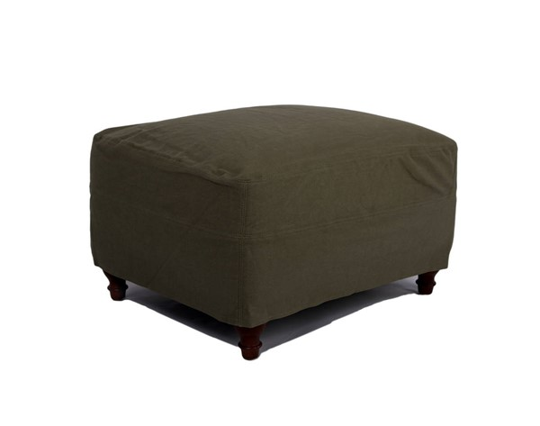 Sunset Trading Seacoast Forest Green Slipcovered Ottoman SST-SU-116430-410026