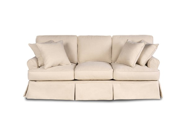 Sunset Trading Horizon Tan Fabric T Cushion Slipcovered Sofa SST-SU-117600-391084
