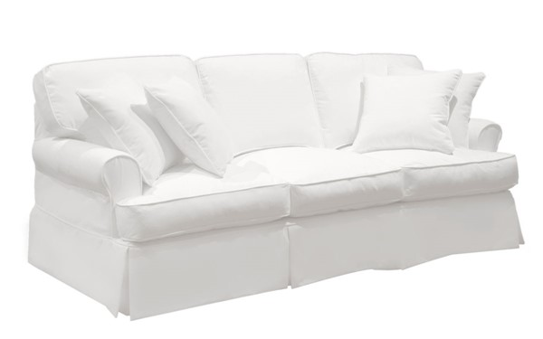 Sunset Trading Horizon Warm White T Cushion Sofa Slipcover SST-SU-117600SC-423080