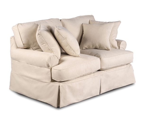 Sunset Trading Horizon Tan T Cushion Loveseat Slipcover Only SST-SU-117610SC-391084