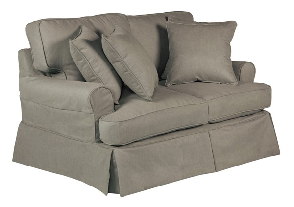 Sunset Trading Horizon Grey T Cushion Loveseat Slipcover SST-SU-117610SC-391094