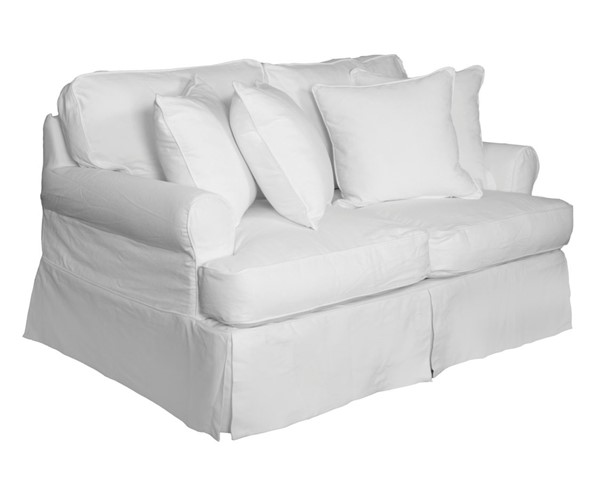 Sunset Trading Horizon Warm White T Cushion Loveseat Slipcover SST-SU-117610SC-423080