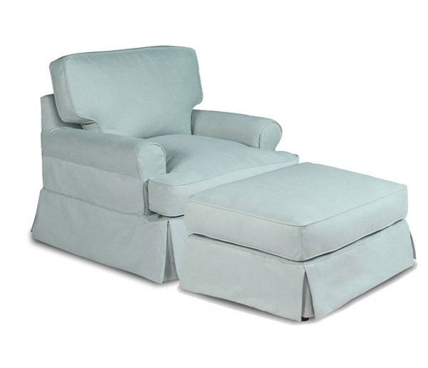 Sunset Trading Horizon Aqua Blue Fabric T Cushion Chair and Ottoman Set SST-SU-117620-30-391043