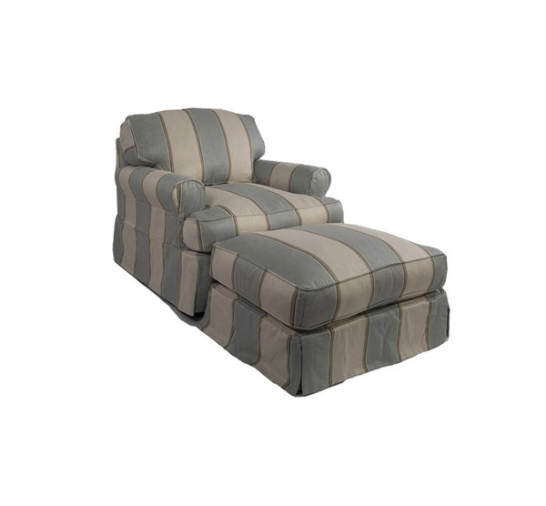 Sunset Trading Horizon Blue Off White T Cushion Chair and Ottoman Set SST-SU-117620-30-479541