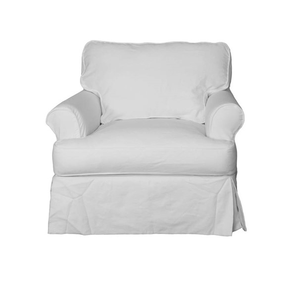 Sunset Trading Horizon Warm White Cotton Slipcovered T Cushion Chair SST-SU-117620-423080