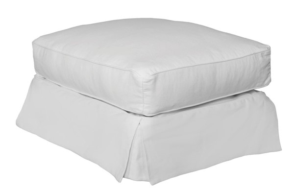 Sunset Trading Horizon Warm White Rectangle Ottoman Slipcover Only SST-SU-117630SC-423080