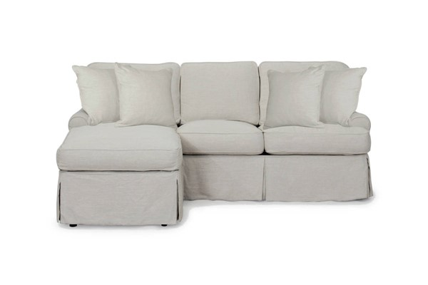 Sunset Trading Horizon Light Gray Slipcovered Sleeper Sectional SST-SU-117678-220591
