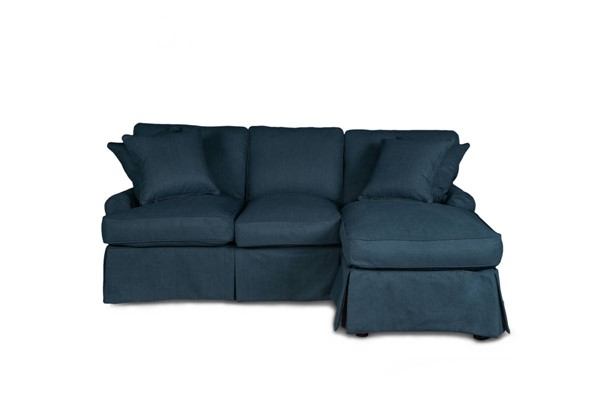 Sunset Trading Horizon Navy Blue Fabric Slipcovered Sleeper Sectional SST-SU-117678-391049