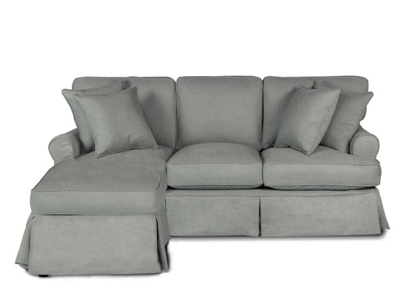 Sunset Trading Horizon Grey Fabric Slipcovered Sleeper Sectional SST-SU-117678-391094