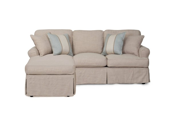 Sunset Trading Horizon Linen Slipcovered Sleeper Sectional SST-SU-117678-466082