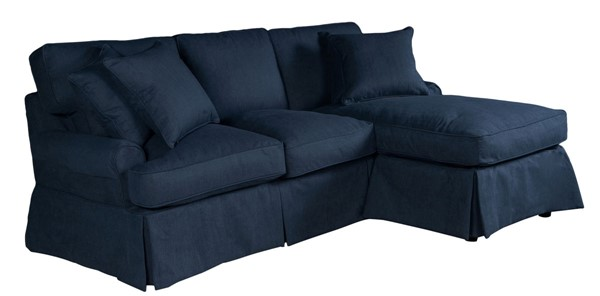 Sunset Trading Horizon Navy Blue T Cushion Sofa Sectional Slipcover SST-SU-117678SC-391049