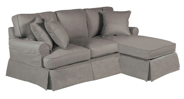 Sunset Trading Horizon Grey T Cushion Sofa Sectional Slipcover Only SST-SU-117678SC-391094