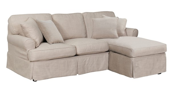 Sunset Trading Horizon Linen T Cushion Sofa Sectional Slipcover Only SST-SU-117678SC-466082