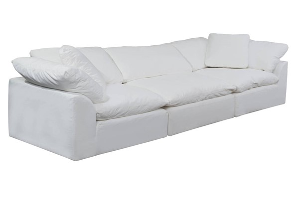 Sunset Trading Cloud Puff White 3pc Slipcovered Sofa SST-SU-1458-81-2C-1A
