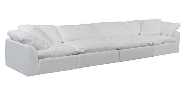 Sunset Trading Cloud Puff White 4pc Slipcovered Sofa SST-SU-1458-81-2C-2A