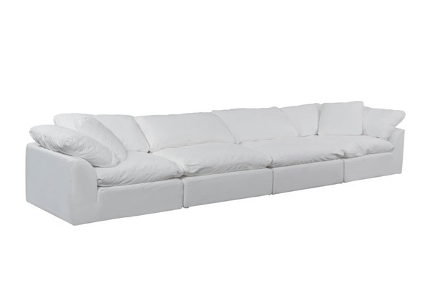 Sunset Trading Cloud Puff White 4pc Slipcovered Sofas SST-SU-1458-2C-2A-VAR
