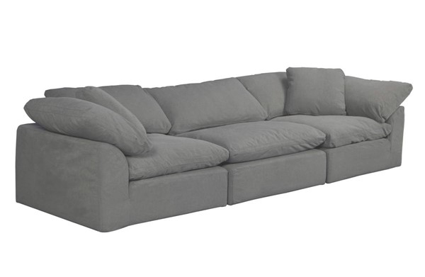 Sunset Trading Cloud Puff Grey 3pc Slipcovered Sofa SST-SU-1458-94-2C-1A