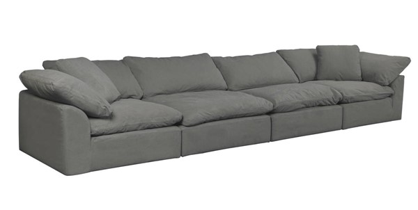 Sunset Trading Cloud Puff Grey 4pc Slipcovered Sofa SST-SU-1458-94-2C-2A