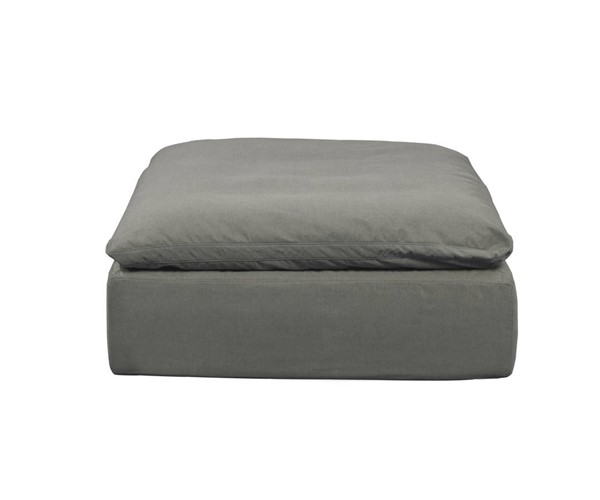 Sunset Trading Cloud Puff Grey Slipcovered Square Modular Ottoman SST-SU-145830-391094