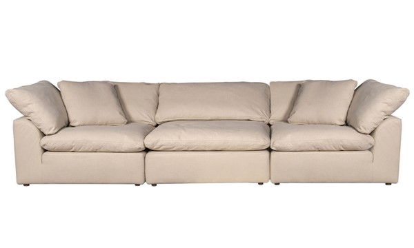 Sunset Trading Cloud Puff Tan 3pc Modular Sofa Slipcover SST-SU-1458SC-84-2C-1A