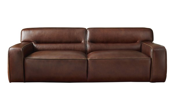 Sunset Trading Milan Brown Leather Sofa SST-SU-AX6816-S