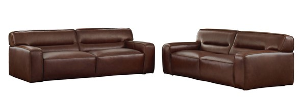 Sunset Trading Milan Brown Leather 2pc Living Room Set SST-SU-AX6816-SL