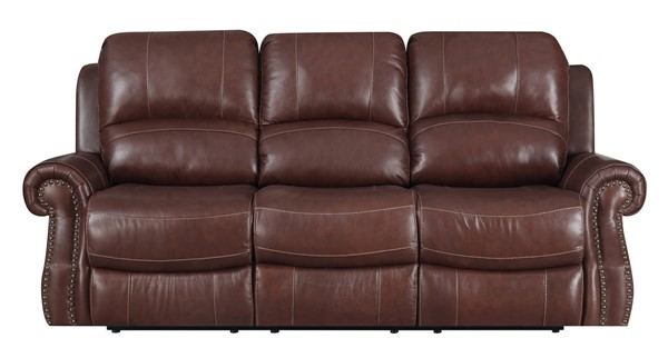 Sunset Trading Emerald Medium Brown Power Headrest Dual Reclining Sofa SST-SU-EM1193-304