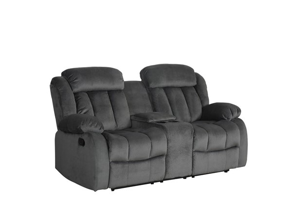 Sunset Trading Madison Charcoal Gray Reclining Loveseat with Console SST-SU-LN550-206