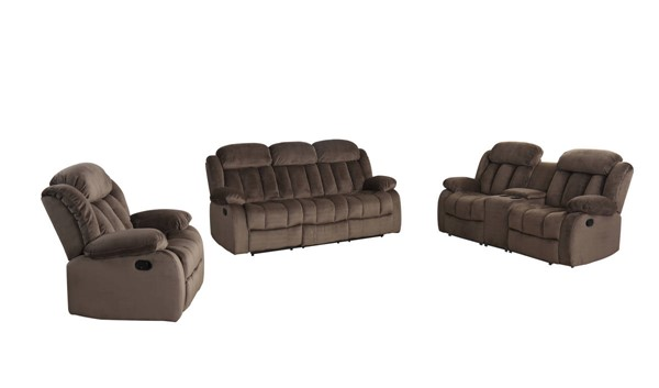 Sunset Trading Teddy Bear Cocoa Brown Reclining 3pc Living Room Set SST-SU-LN660-3PCSET