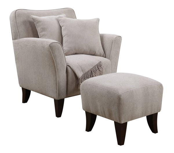 Sunset Trading Cozy Accent Taupe Chair and Ottoman Set SST-SU-ULC170-100