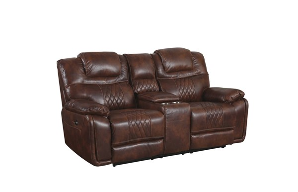 Sunset Trading Diamond Brown Power Dual Reclining Loveseat with Cup Holders SST-SU-ZY5018A002-H246