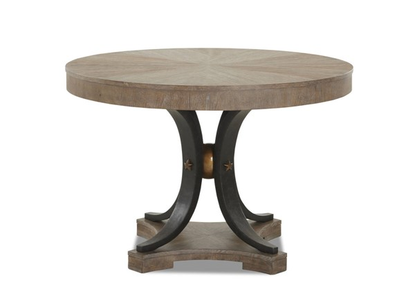 Sunset Trading Celestial Brown Black Gold Round Dining Table SST-WP-5032-044TB