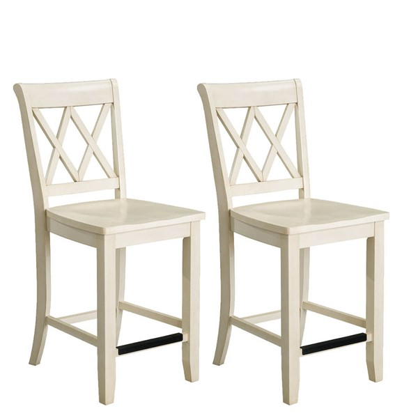 2 standard furniture vintage vanilla bean counter height stools the classy home. Black Bedroom Furniture Sets. Home Design Ideas