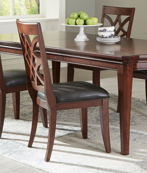 2 Standard Furniture Wellsville Cherry Brown Dining Side Chairs STD-12264