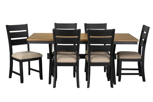 Standard Furniture Braydon Black 7pc Dining Room Set STD-12802
