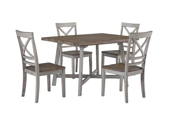 Standard Furniture Fairhaven Grey 5pc Dining Room Set STD-12862