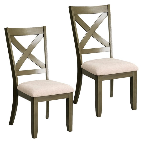 2 Standard Furniture Omaha Grey Side Chairs STD-16684