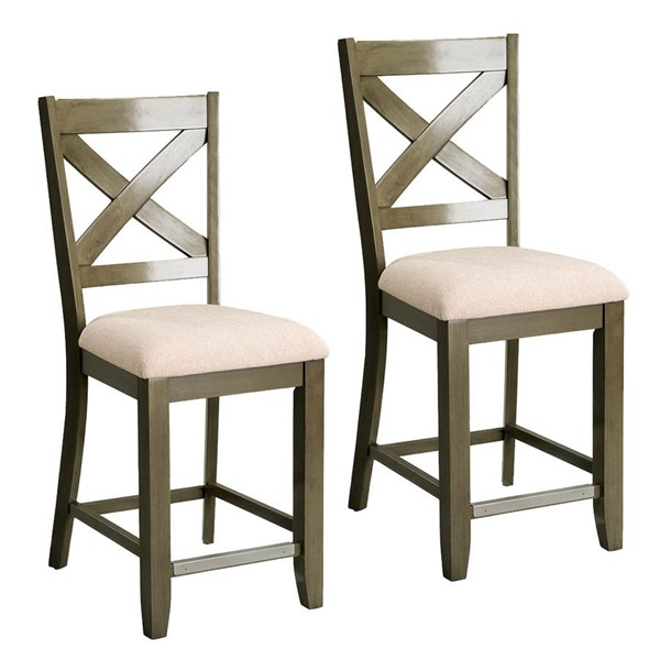 Kitchen Table Omaha: 2 Standard Furniture Omaha Grey Counter Height Barstools