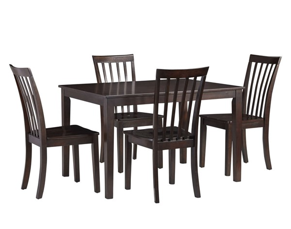 Standard Furniture Stanton Glossy Cherry 5pc Dining Room Set STD-18082