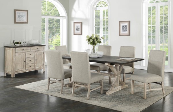 Standard Furniture Jefferson Brown 7pc Dining Room Set STD-1816-DR-S1