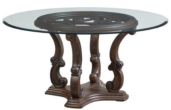Standard Furniture Parliament Dusty Brown Round Dining Table STD-19041-DT